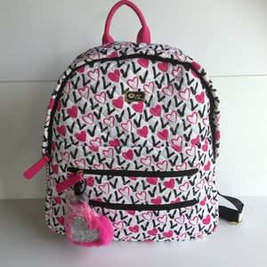 Betsy Luv Betsey Johnson Quilted Love Backpack